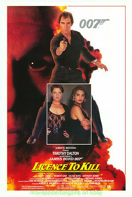 LICENCE TO KILL MOVIE POSTER Original Rolled 27x40 TIMOTHY DALTON is JAMES BOND