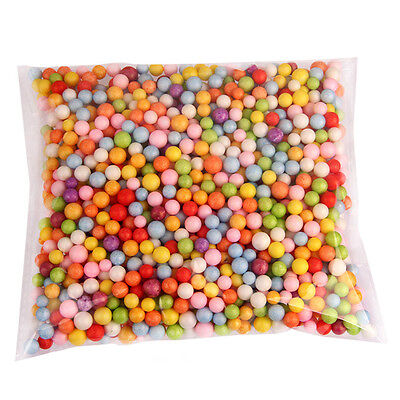 Lots Styrofoam Filler Foam Beads Assorted Colors Mini Crafts Polystyrene Balls