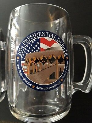 2004 Presidential Debate Tumblers Budweiser Set Of 2 Plastic Clear Preowned