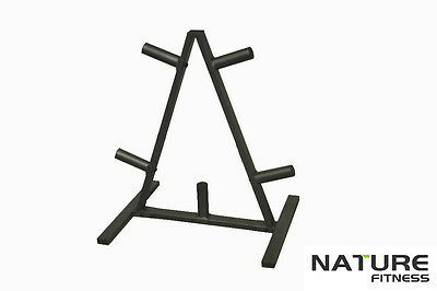 Nature Fitness Olympic Gym Weight Plates Storage Rack Tree 302