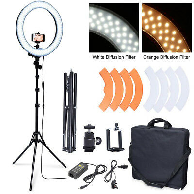 DIVA 48cm 55W Dimmable LED Ring Light + 6' Stand + Camera Phone Holder fr Photo