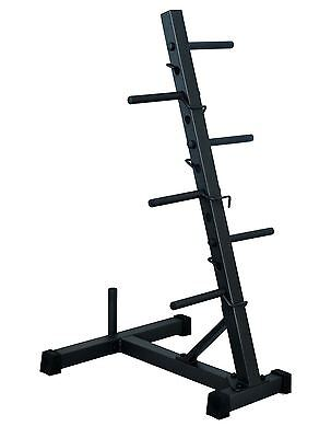 Nature Fitness Stand Weight Plates Tree With Bar Holder
