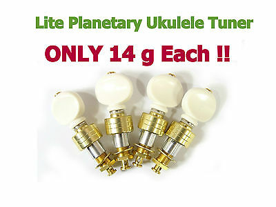Ukulele Lite Planetary Tuning Pegs Tuner Gold Plated Surface 128G-UW@!