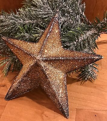 "Five Pointed Mica Star 7"" Christmas Decoration Tree Topper Collectible."
