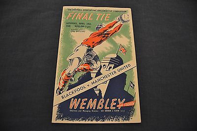 1948 FA Cup Final Programme Blackpool v Manchester United V.Good Cond.