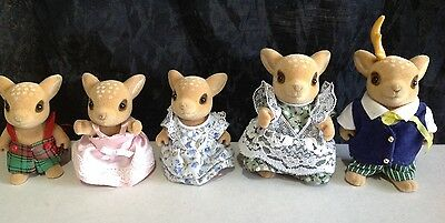 RARE Sylvanian Families Moss Reindeer Set Of Five Family ��