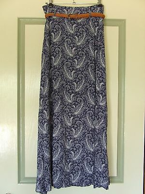 Sunny Girl maxi skirt with belt size 8