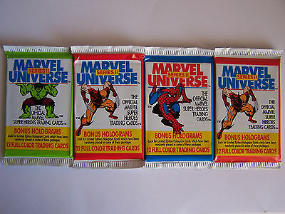 Marvel Universe Series 2 Trading Cards 1991 - 4 Packs