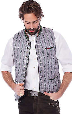Almsach Gilet traditionnel Gilet gris sapin