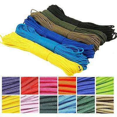New 100FT 550 Paracord 7 Strands Parachute Cord Rope Lanyard Mil Spec Type NW