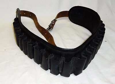 VINTAGE HUNTING LEATHER CARTRIDGE BELT  GENUINE LEATHER Very Rare!