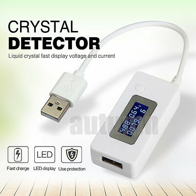 LCD Dual USB Charger Mobile Power Detector Voltage Current Meter Tester Detector