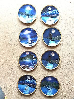 Dolphin and Whale Plate Collection 8 Plates