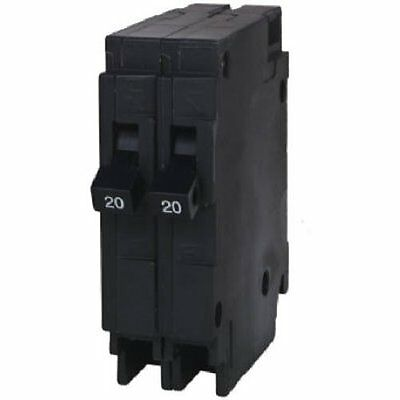 Siemens Q2020 Two 20-Amp Single Pole 120-Volt Circuit Breakers, for use only whe