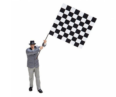 Schuco Classic F1 Course Director With Flag - 1/18 Scale Die-cast Figurine