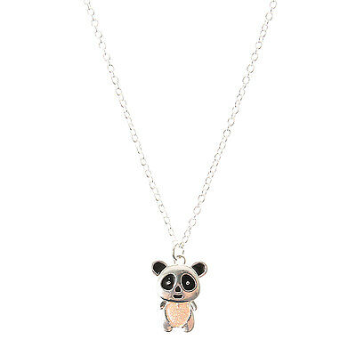 Claire's Girls and Womens Love Heart Glitter Panda Belly Necklace