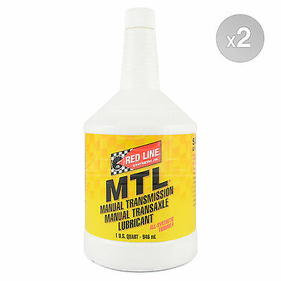 RED LINE MTL 75W80 GL-4 Gear Oil Manual Transmission 75W-80 2 x 1 US Quart