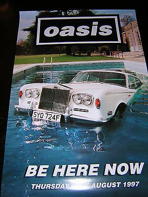 Original Oasis Promotional Album Display Poster - Be Here Now