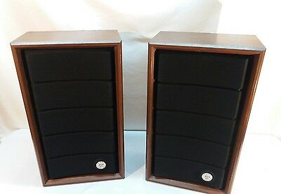 Vintage Soundesign SD 625 Full Frequency Air Suspension Stereo Speakers Beauties