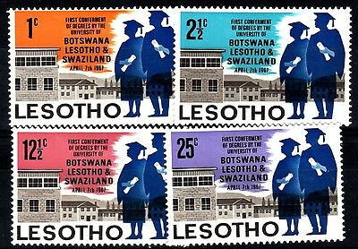 Lesotho:1967:First Conferment of University Degrees,Set.Mint.
