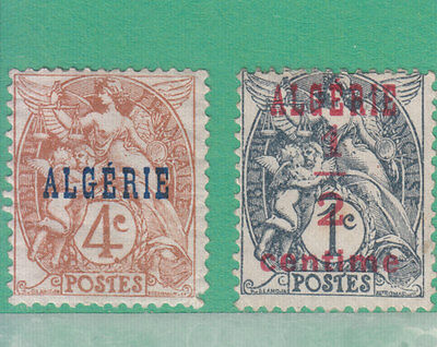 Algeria France O.p.t.d. 1924 2 Stamps Mint Hinged