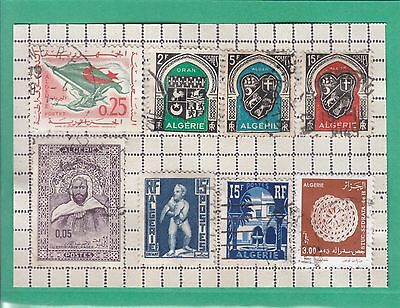 Algeria 8 Mixed Stamps Used