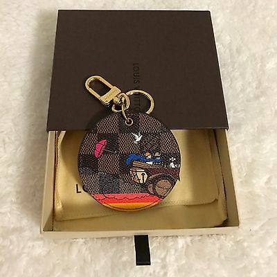 LV Louis Vuitton DE 2015 Evasion Limited Edition Bag Charm Key Ring - As New