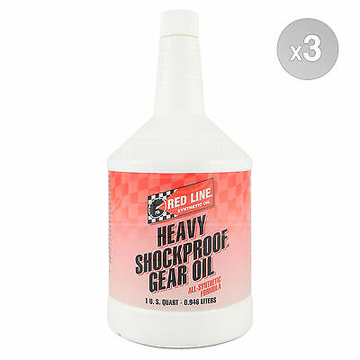 RED LINE Heavy ShockProof Gear Oil 75w-140 3 x 1 US Quart (2.838 litre)