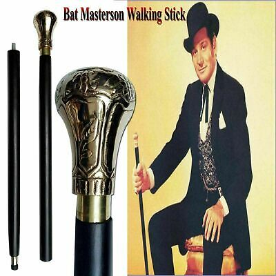 Brass Designer Antique Style Cane Wooden Walking Stick Vintage Canes handle