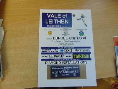 Friendly 2014/15 Vale of Leithen v Dundee United