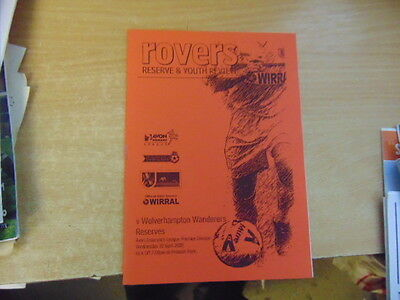 Reserves 2001/2 Tranmere Rovers v Wolves Apr 10