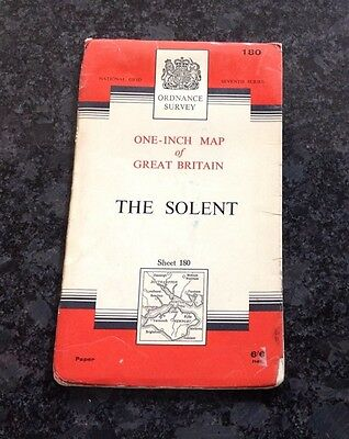 Ordnance Survey One Inch Map Of The Solent Published In 1966