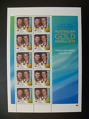Australian Stamps - 2000 Sydney Olympics 45c King and Turnbull (sheetlet)