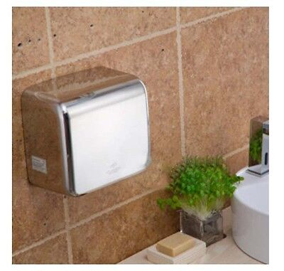 New Silvery Stainless Steel Automatic Induction Quick Drying Hand Dryer Machine