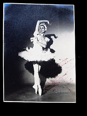 BALLET. AUTOGRAPHED PHOTOGRAPH OF ALICIA MARKOVA by BARON. 1938. BALLETS RUSSES