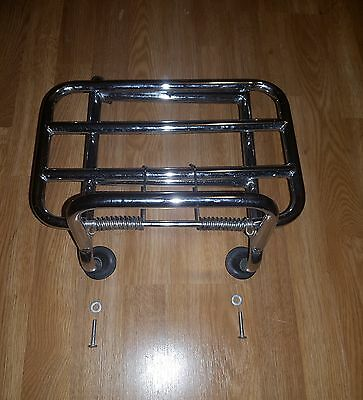 Neco Abruzzi 50 125 Vespa Look Front Spring Loaded Carrier Chrome High Quality