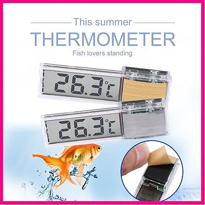 Waterproof LCD Display 3D Digital Electronic Fish Tank Aquarium Thermometer AU