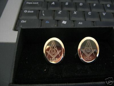 Personalised Masonic Gold Cufflinks With Your Own Lodge Number Special Offer