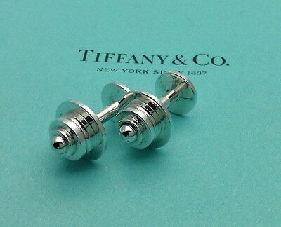 Tiffany & Co. Sterling Silver Paloma Picasso Tiered Pyramid Cufflinks Cuff Links