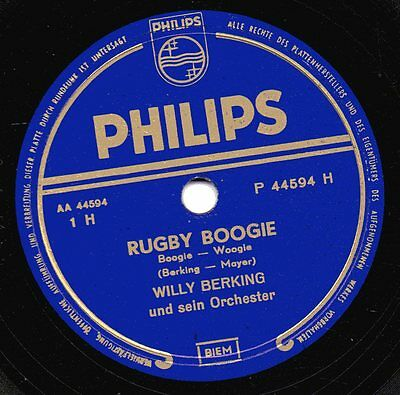 """78er Euro-Swing Boogie-Woogie Willy Berking Orchester """"Rugby Boogie"""""""