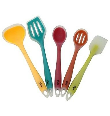 Premium Silicone Kitchen Utensil Set, New 5 Piece Cute Cooking Tool Set By