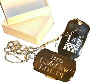 Silver Orange Order Dog Tag Pendant Personalised With Own Name & L.o.l. Number