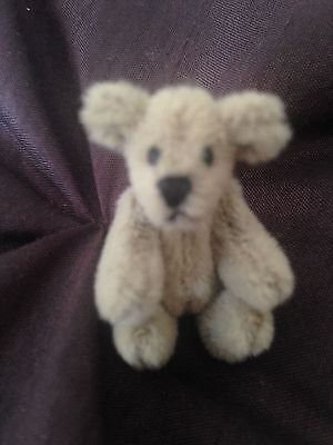 "Little Gems Chu-Ming Wu TINY DOLLHOUSE GRAY Jointed Bear 1.5""  SO CUTE NO RES!"
