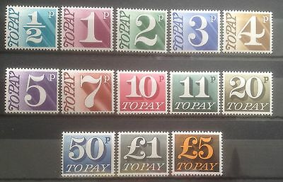 Gb 1970 D77-89 Postage Due Set Unmounted Mint