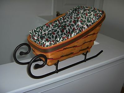Large Holiday Sleigh Longaberger Basket Combo w/Runners