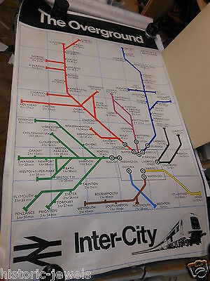 vintage BR poster 1974? Inter City The Overground