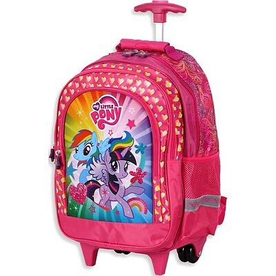 MY LITTLE PONY Large School Roller Backpack Trolley Wheeled Bag Official NEW!!