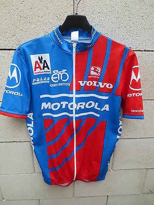 Maillot cycliste MOTOROLA vintage SHIRT LANCE ARMSTRONG jersey L Tour France 94