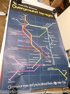 vintage BR poster 1974? Inter City Sleepers