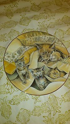 Royal Worcester Cat Collector's Plate